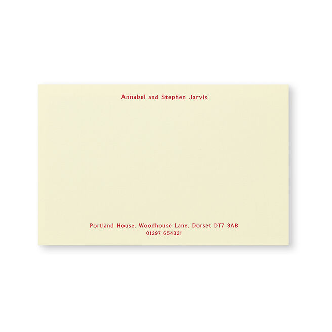 Kings Correspondence Card with Name and Address (Top and Bottom)