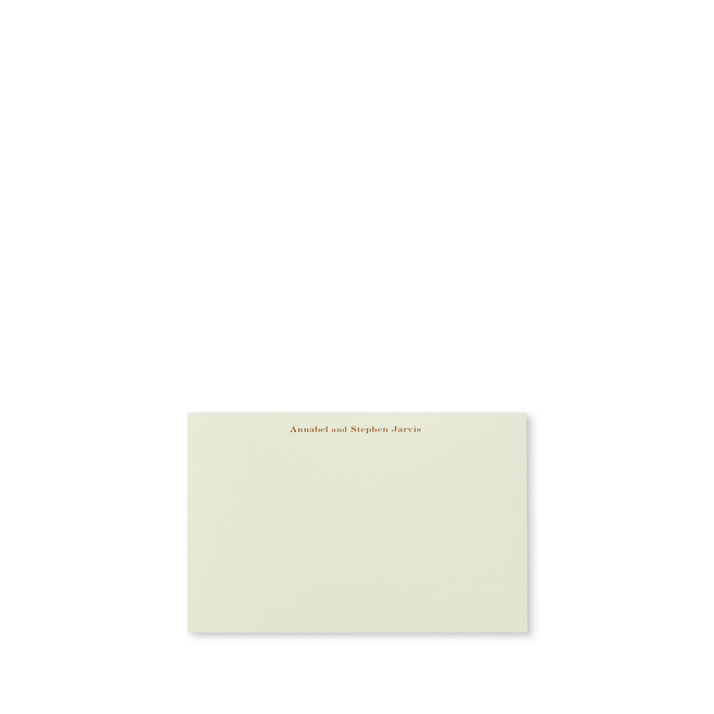 Imperial Correspondence Card with Name