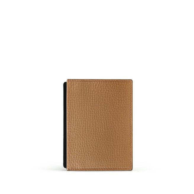 Card and Note Holder in Large Grain Leather