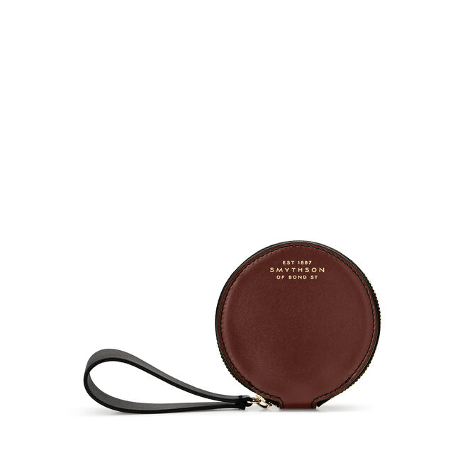 Mini Circle Strap Purse in Smooth Leather