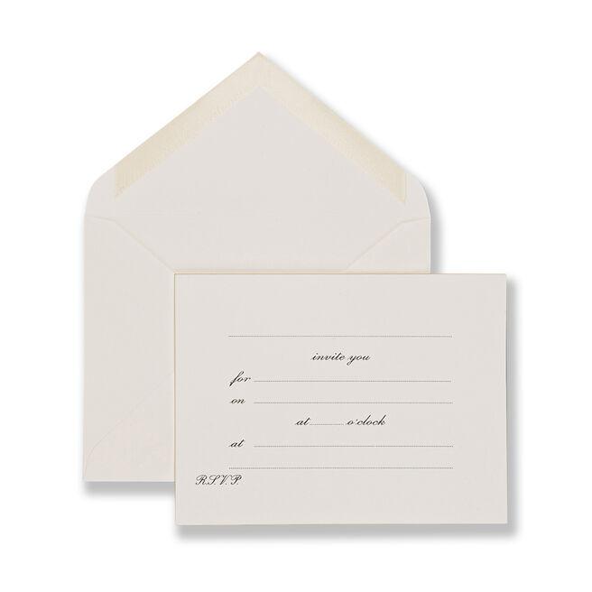 Invite You Invitation Cards White