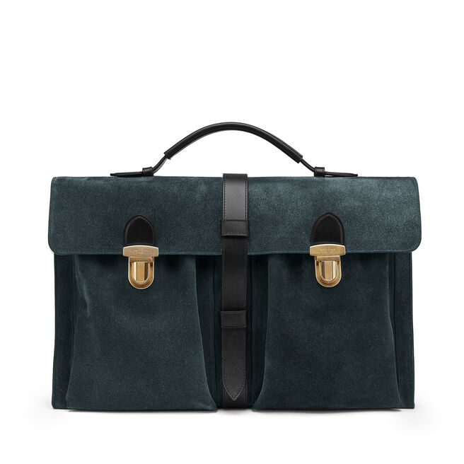 Satchel Messenger Bag in Suede