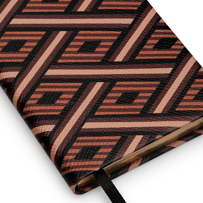 Diagonal Print Panama Notebook