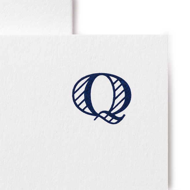 アルファベットカードセット Q