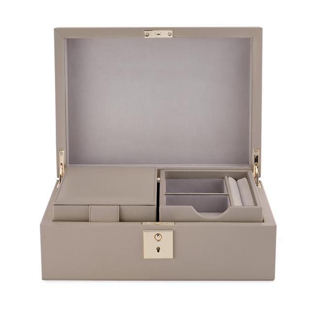 Boîte à bijoux Grosvenor avec plateau de voyage