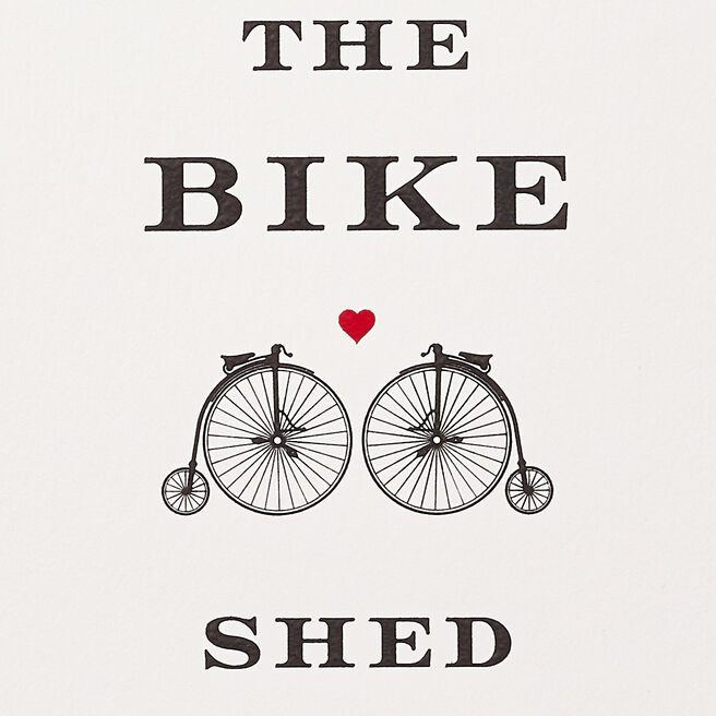 Meet Me Behind The Bike Shed Card White