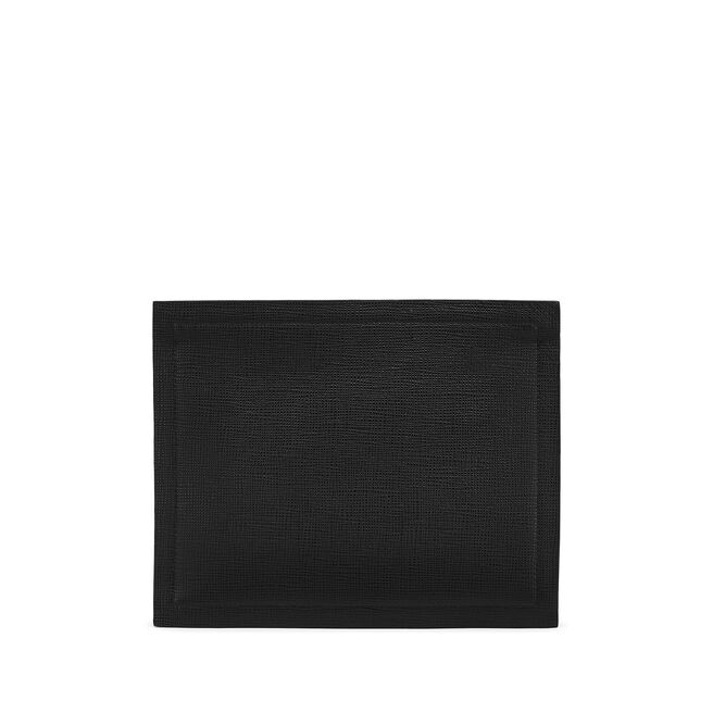 Paper Edge Zip Pouch in Crossgrain Leather