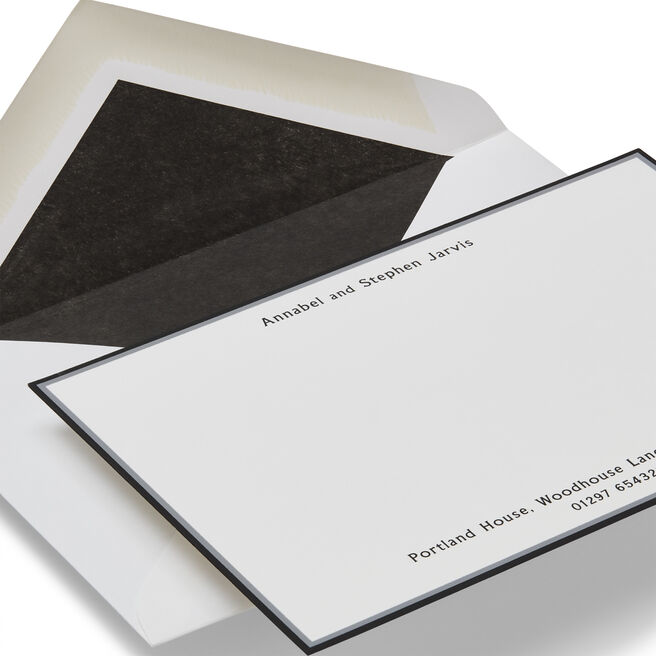 Imperial Correspondence Card with Name and Address (Top and Bottom)