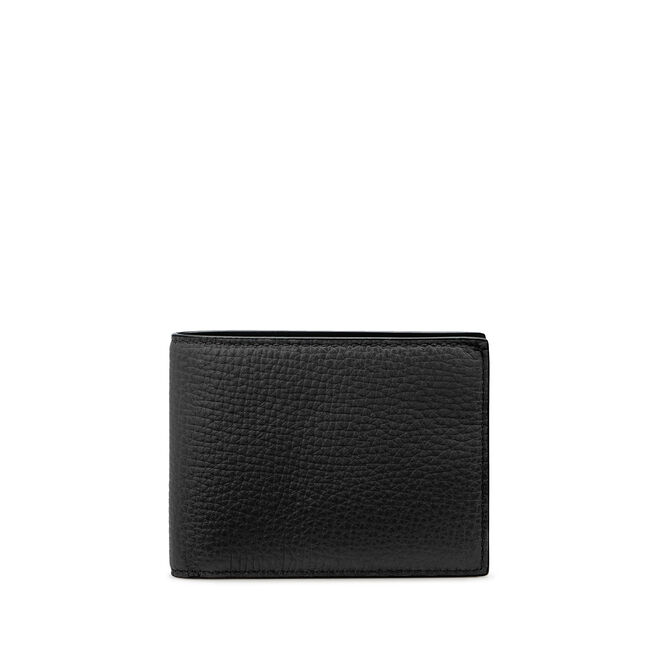 Slim Currency Wallet in Large Grain Leather