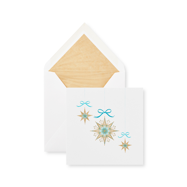Golden Stars クリスマスカード