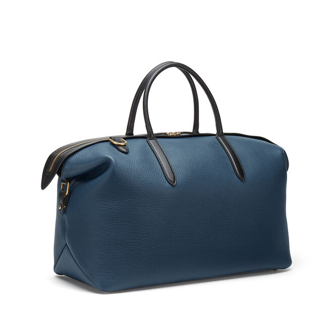 Zip Guard Holdall in Large Grain Leather
