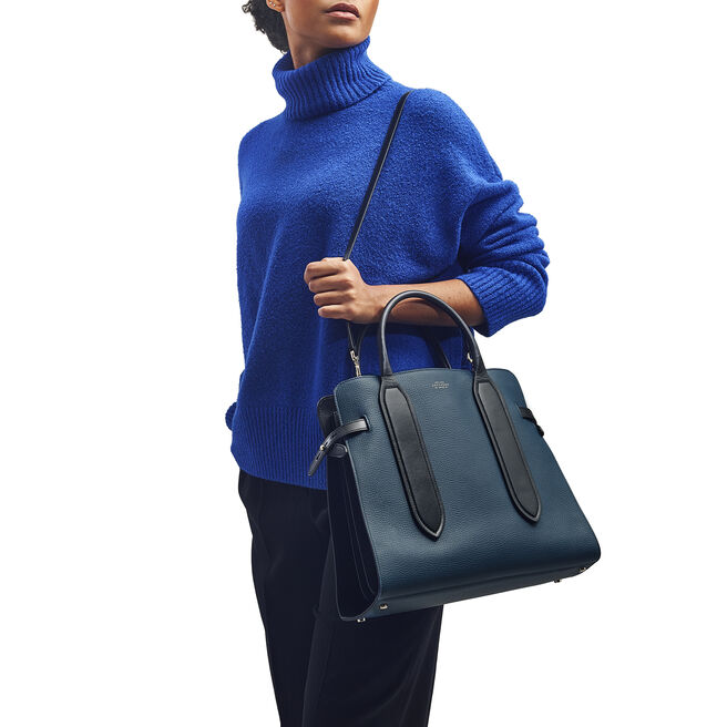 Ciappa Shoulder Bag in Large Grain Leather