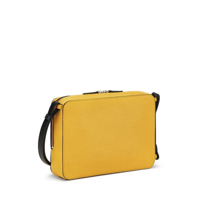 Sliding Strap Zip Crossbody Bag in Crossgrain Leather