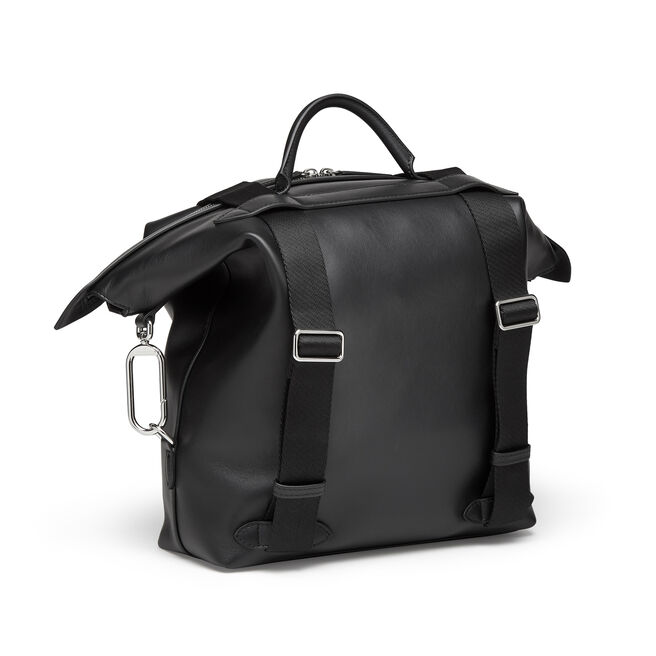 Large Clip Down Rucksack in Smooth Leather