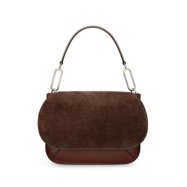 Concertina Shoulder Bag in Suede