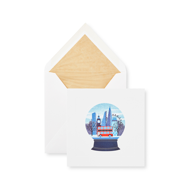 Snow Globe クリスマスカードセット