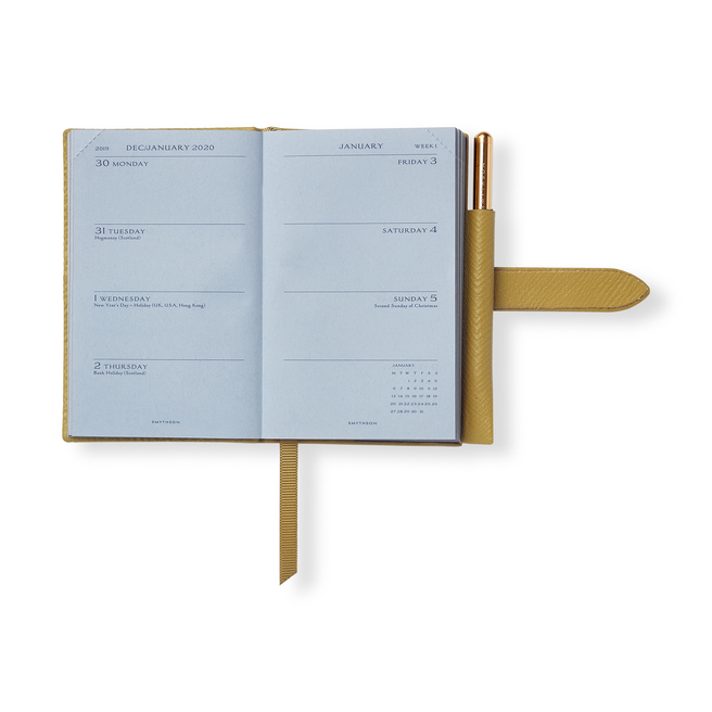 2020 Wafer Agenda with Gilt Pencil