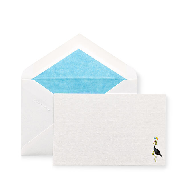 Bird with Sunglasses Correspondence Cards