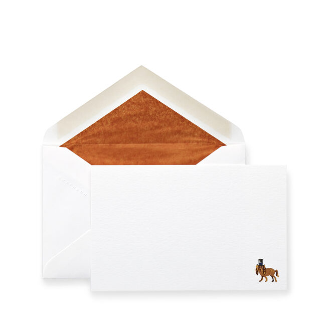 Dog with Top Hat Correspondence Cards