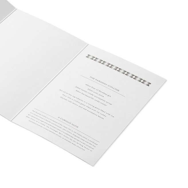 The Faraway Collins Cocktail Card White