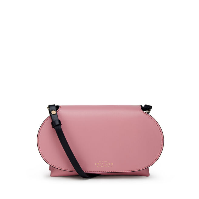 Mini Pillow Crossbody Bag in Smooth Leather