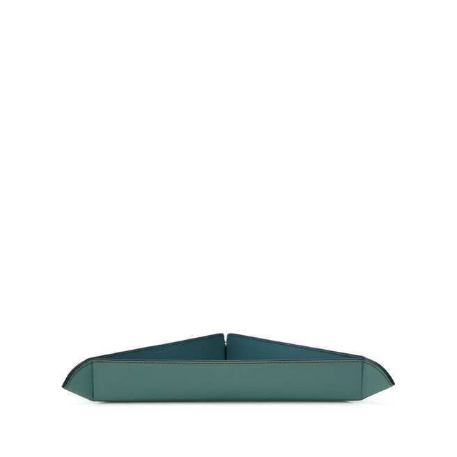 Large Trinket Tray in Smooth Leather