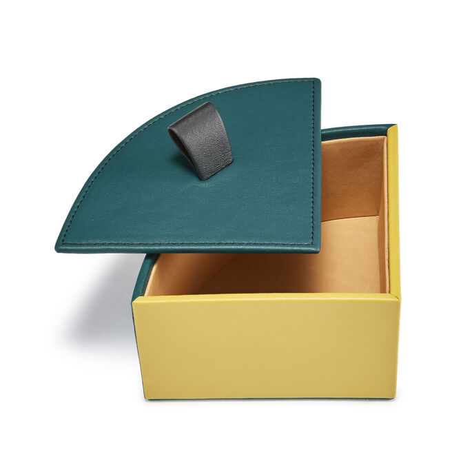 Quarter Circle Box in Smooth Leather