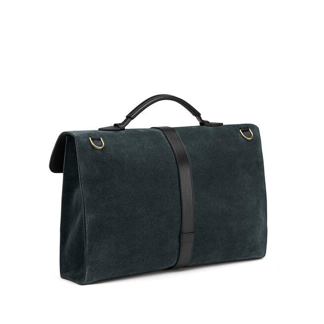 Satchel Messenger Bag in Suede