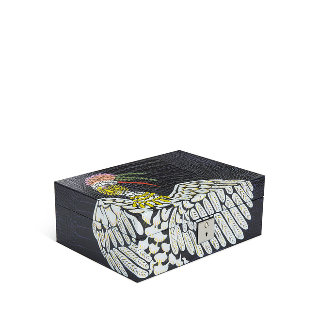 Mara Hand-Painted Jewellery Box with Travel Tray