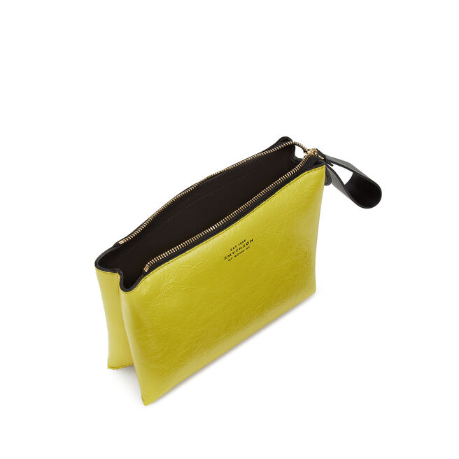 Small Pillow Pouch in Crinkled Patent Leather