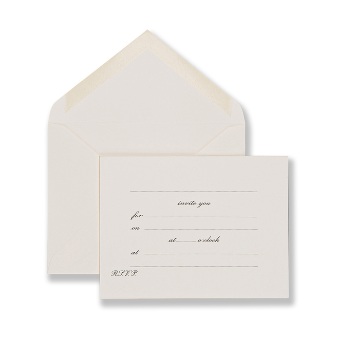 Invite You Invitation Cards White