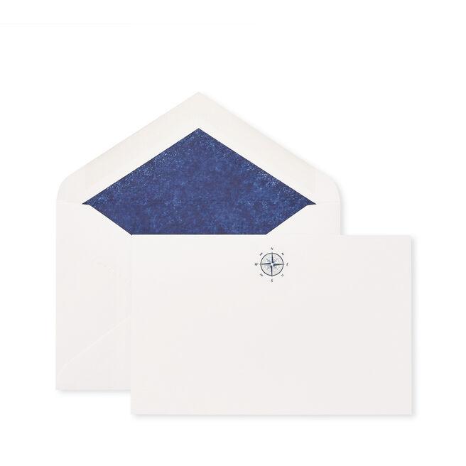 Compass Correspondence Cards White