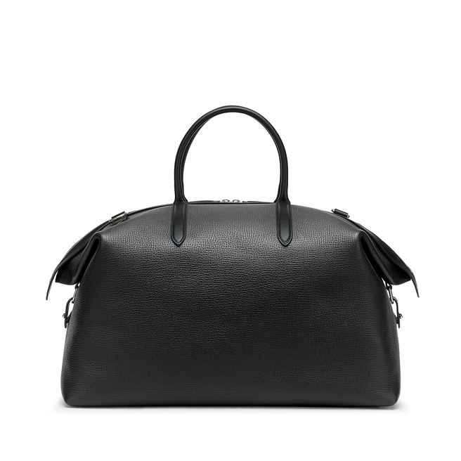 Zip Guard Travel Bag in Large Grain Leather