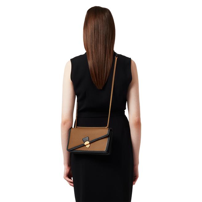 Basketweave Envelope Chain Shoulder Bag