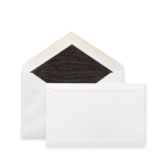 Scallop Border Correspondence Cards