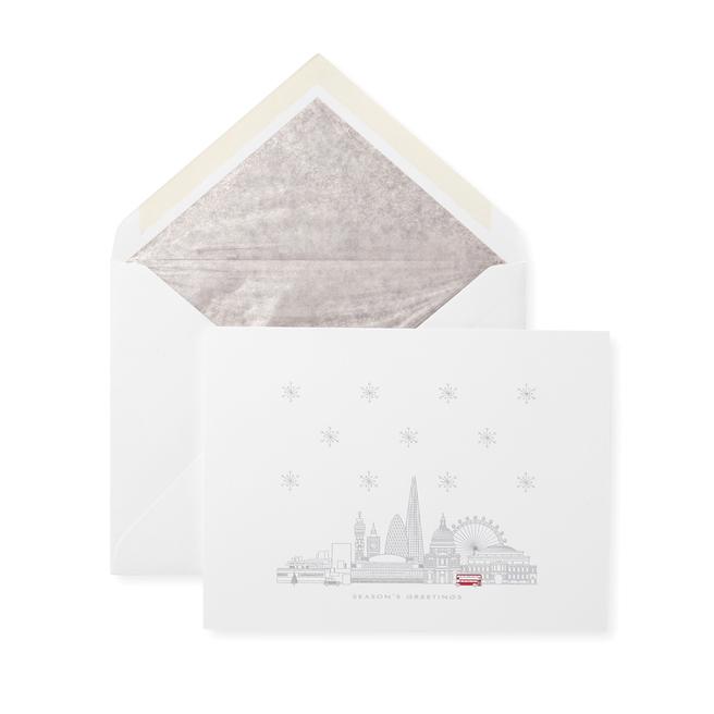 Snowy London (Red Bus) Christmas Card