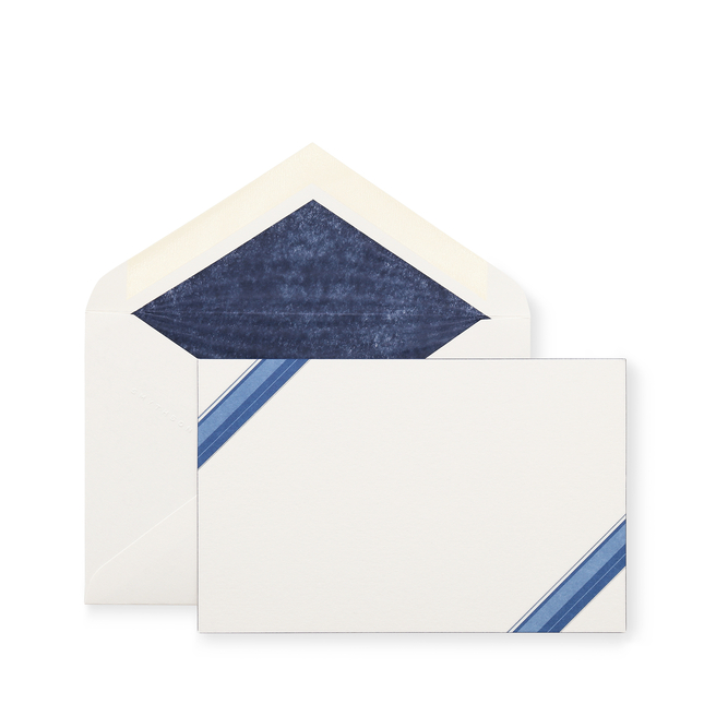 Diagonal Stripe Border Correspondence Cards