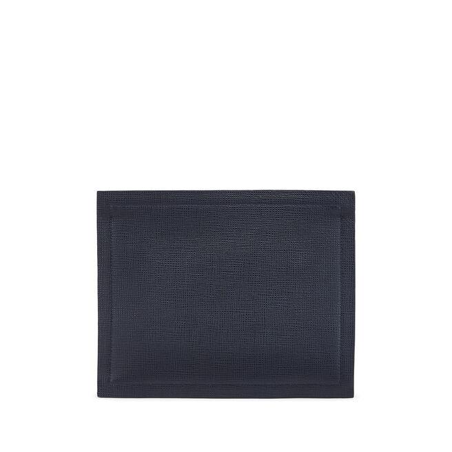 Paper Edge Zip Pouch in Crossgrain Leather