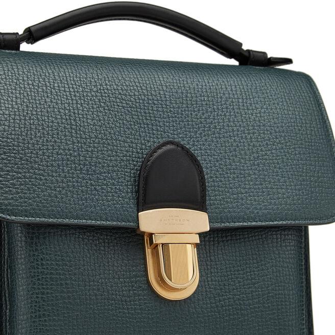 Satchel Reporter Bag in Large Grain Leather