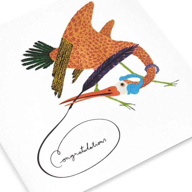 Musical Bird Congratulations Card