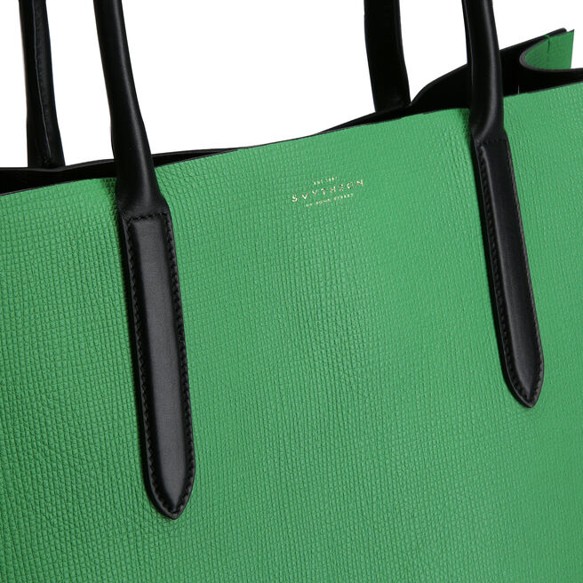 Maxi Paper Edge Tote in Crossgrain Leather