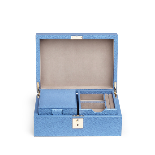 Panama Jewellery Box with Travel Tray