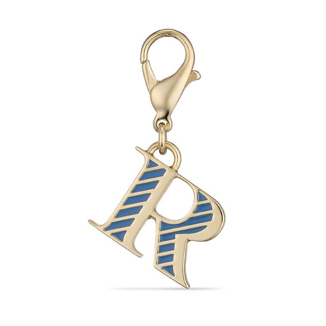 Park Avenue R Alphabet Charm Nile Blue