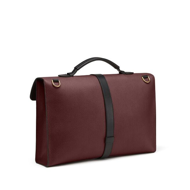 Satchel Messenger Bag in Large Grain Leather