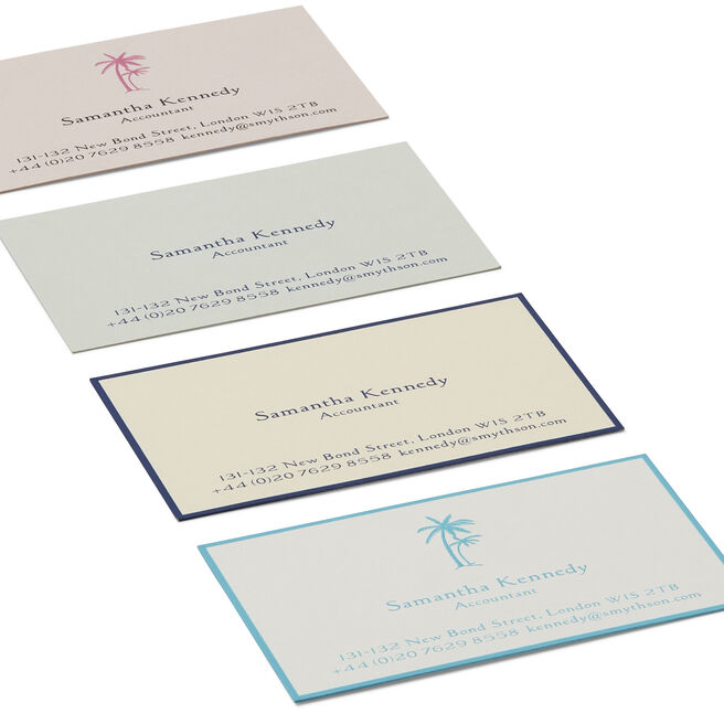Business Card with Name and Address in Contemporary Layout