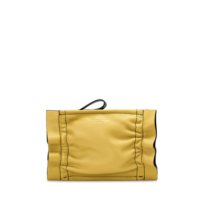 Scrunch Zip Purse in Smooth Leather