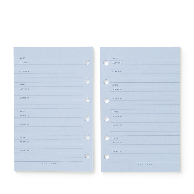 Bijou Organiser Address Refill White