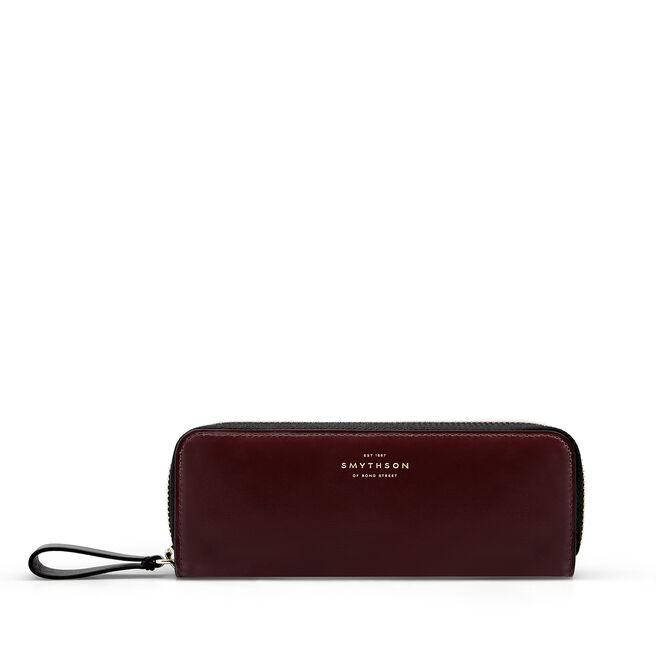 Double Pen Case in Box Calf Leather