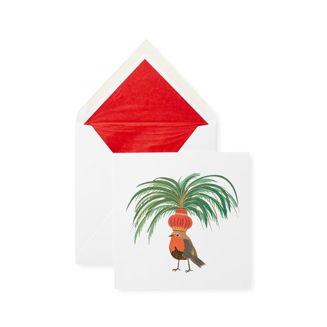 Carnival Robin Christmas Card