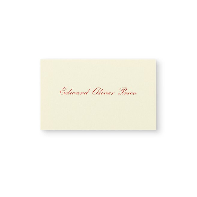 Business Card with Name